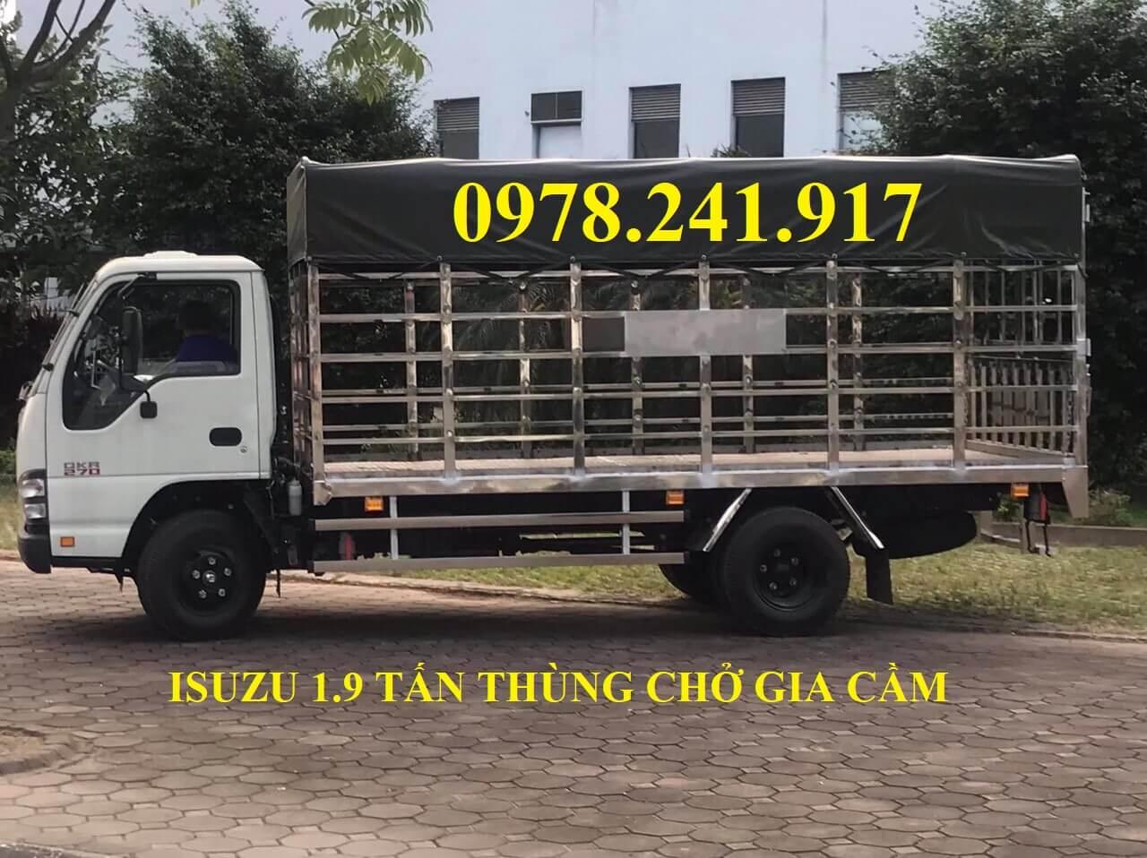 xe tải isuzu 1.9 tấn thùng chở gia cầm