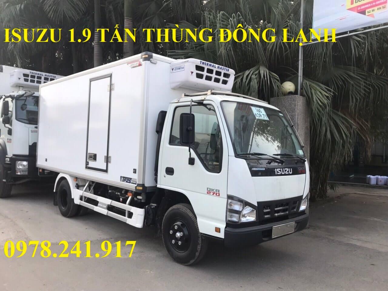 xe tải isuzu 1.9 tấn thùng đông lạnh