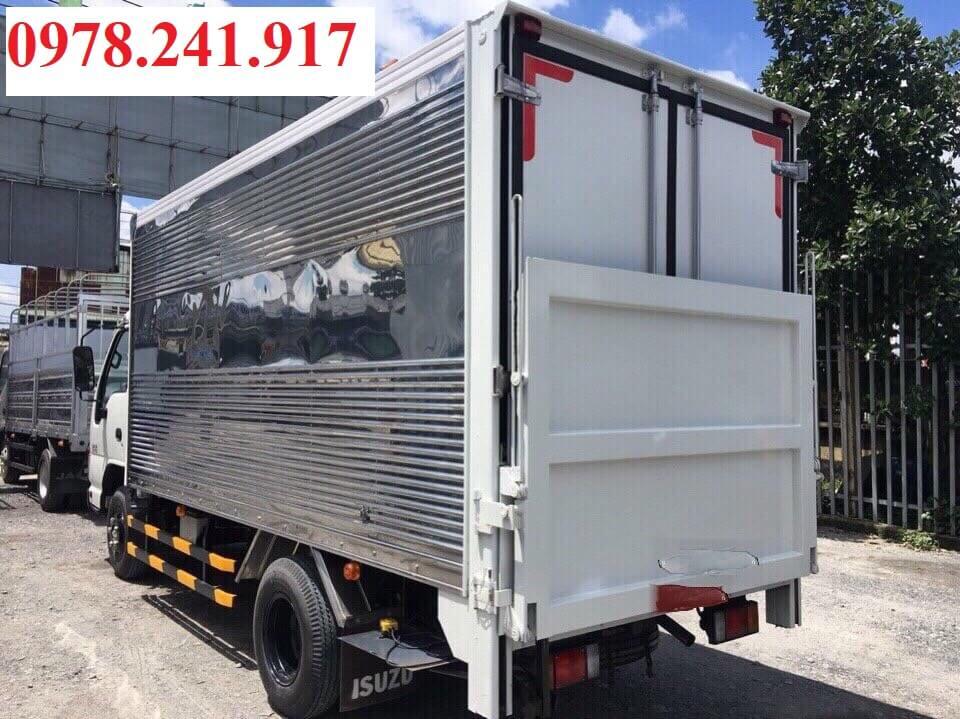 xe tải isuzu 1.9 tấn thùng kín gắn bửng nâng hạ