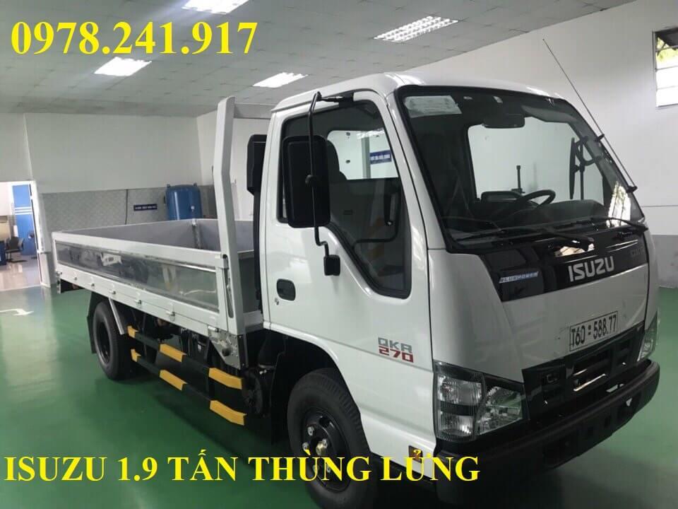 xe tải isuzu 1.9 tấn thùng lửng
