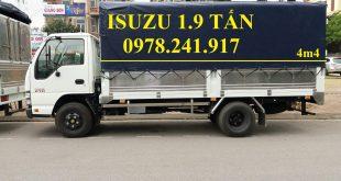 xe tải isuzu 1.9 tấn thùng mui bạt 1