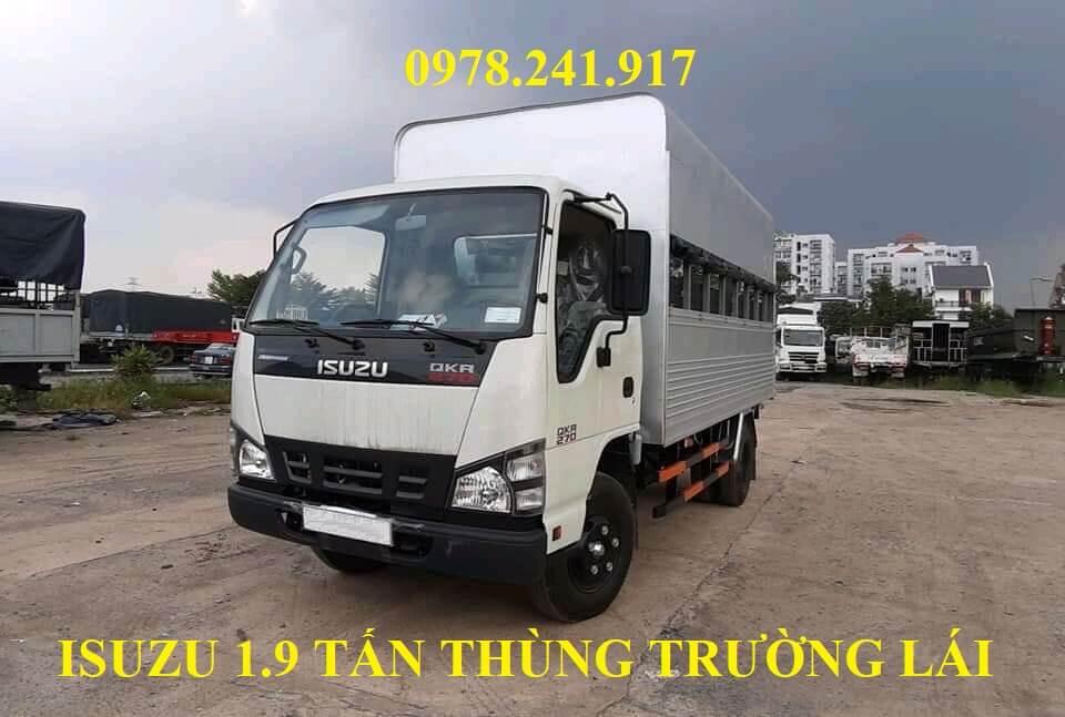 xe tải isuzu 1.9 tấn thùng trường lái