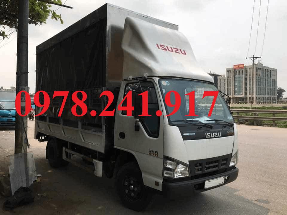 xe tải isuzu 2.9 tấn thùng chở xe máy điện 2 tầng