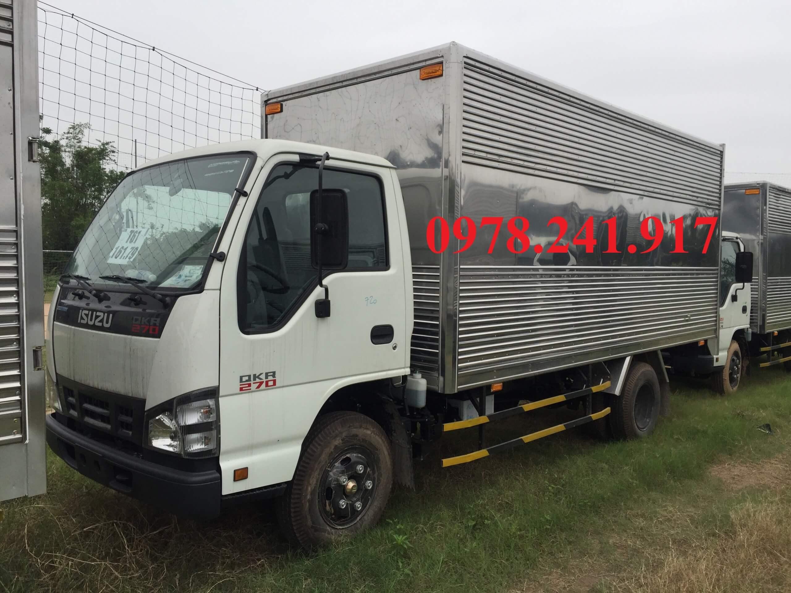 xe tải isuzu 2.9 tấn thùng kín