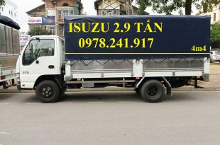 xe tải isuzu 2.9 tấn thùng mui bạt 1