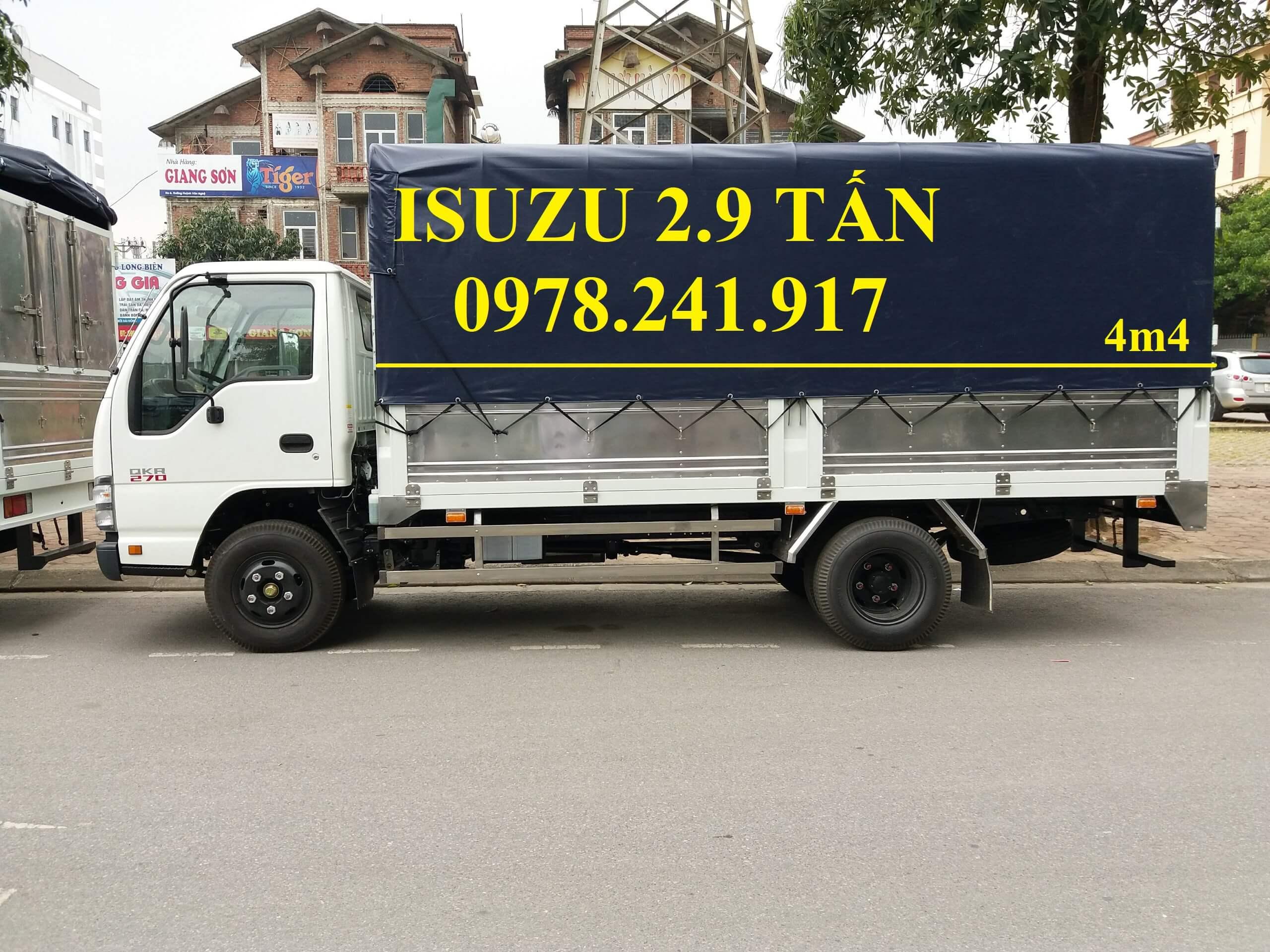 Xe tải Isuzu 2.9 tấn QKR77HE4 trả góp 150 triệu