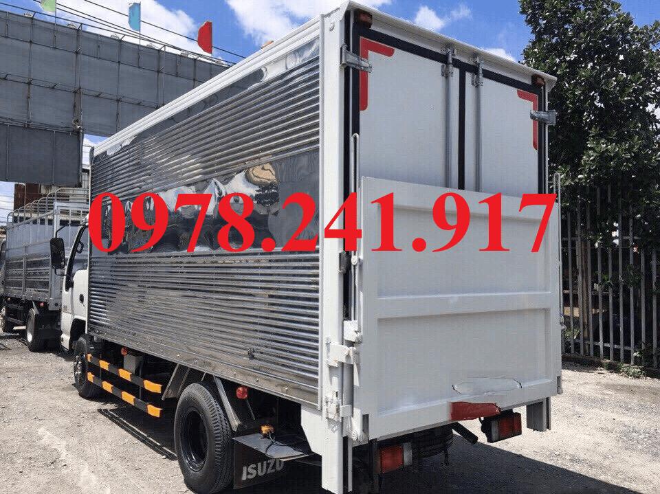 xe tải isuzu 2 tấn 9 thùng kín bửng nâng hạ