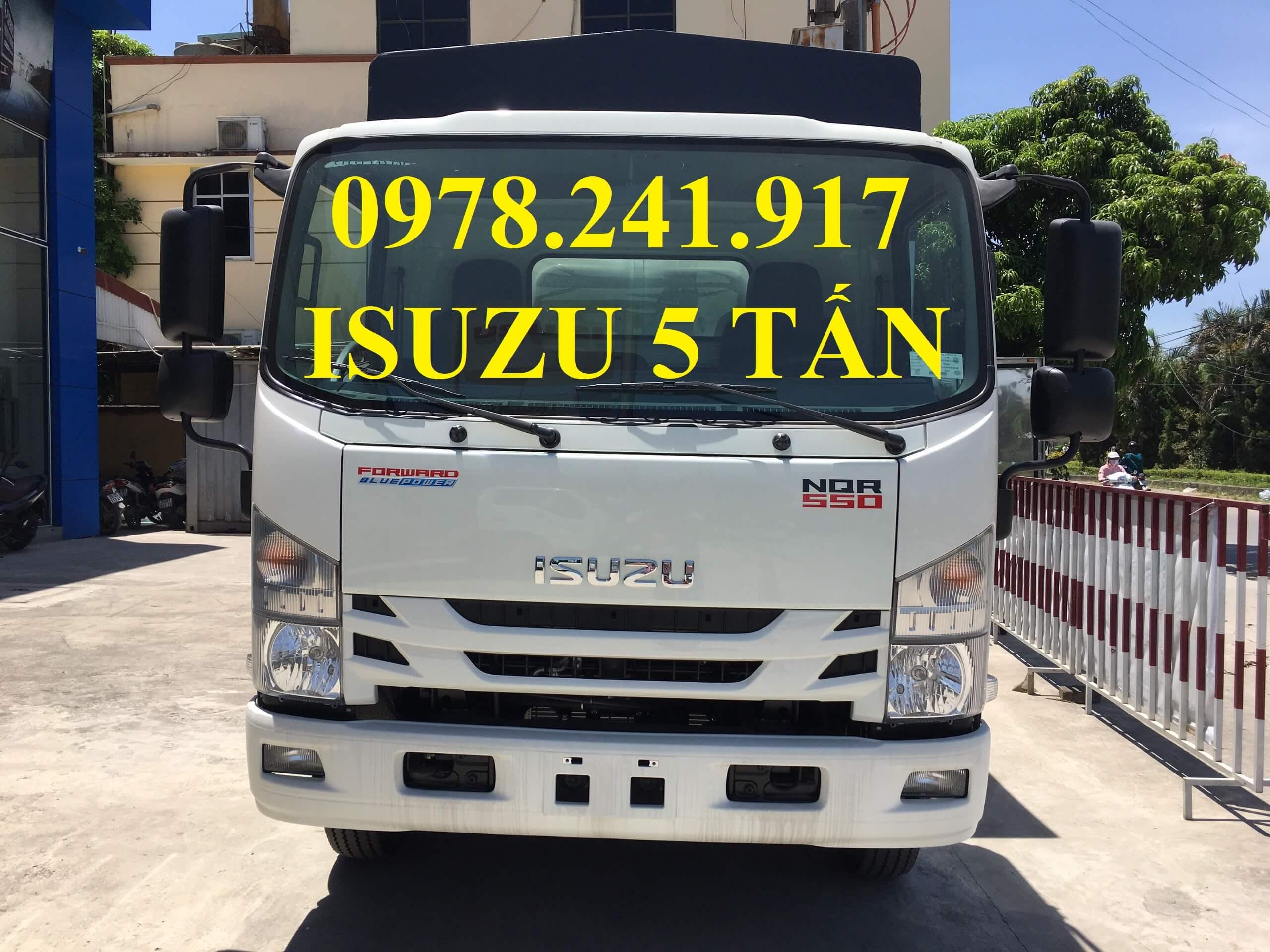 xe tải isuzu 5 tấn NQR75M mặt trước cabin