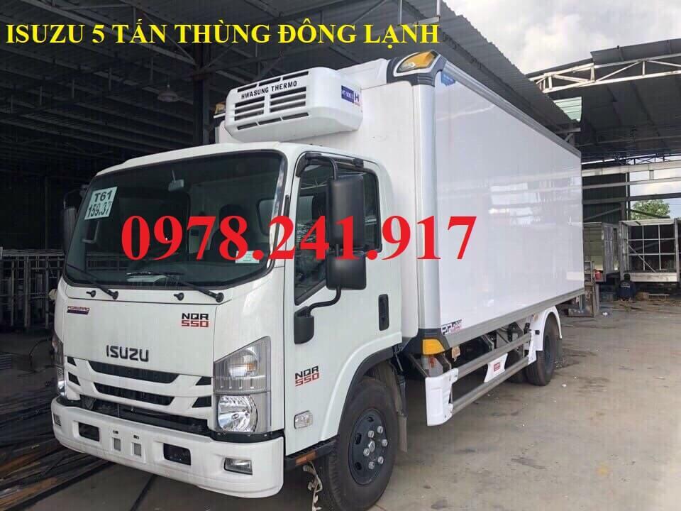 xe tải isuzu 5 tấn NQR75M thùng đông lạnh