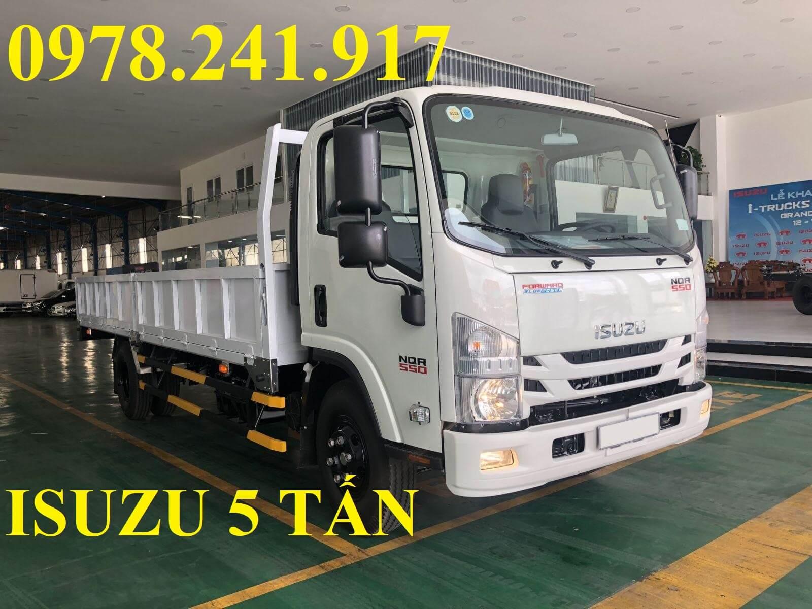 xe tải isuzu 5 tấn NQR75M thùng lửng