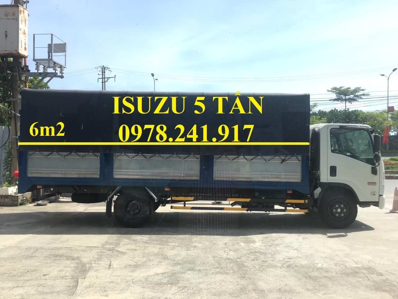Xe tải isuzu 5 tấn NQR75ME4 5.5 tấn thùng dài 6m2 trả góp chỉ từ 200 triệu