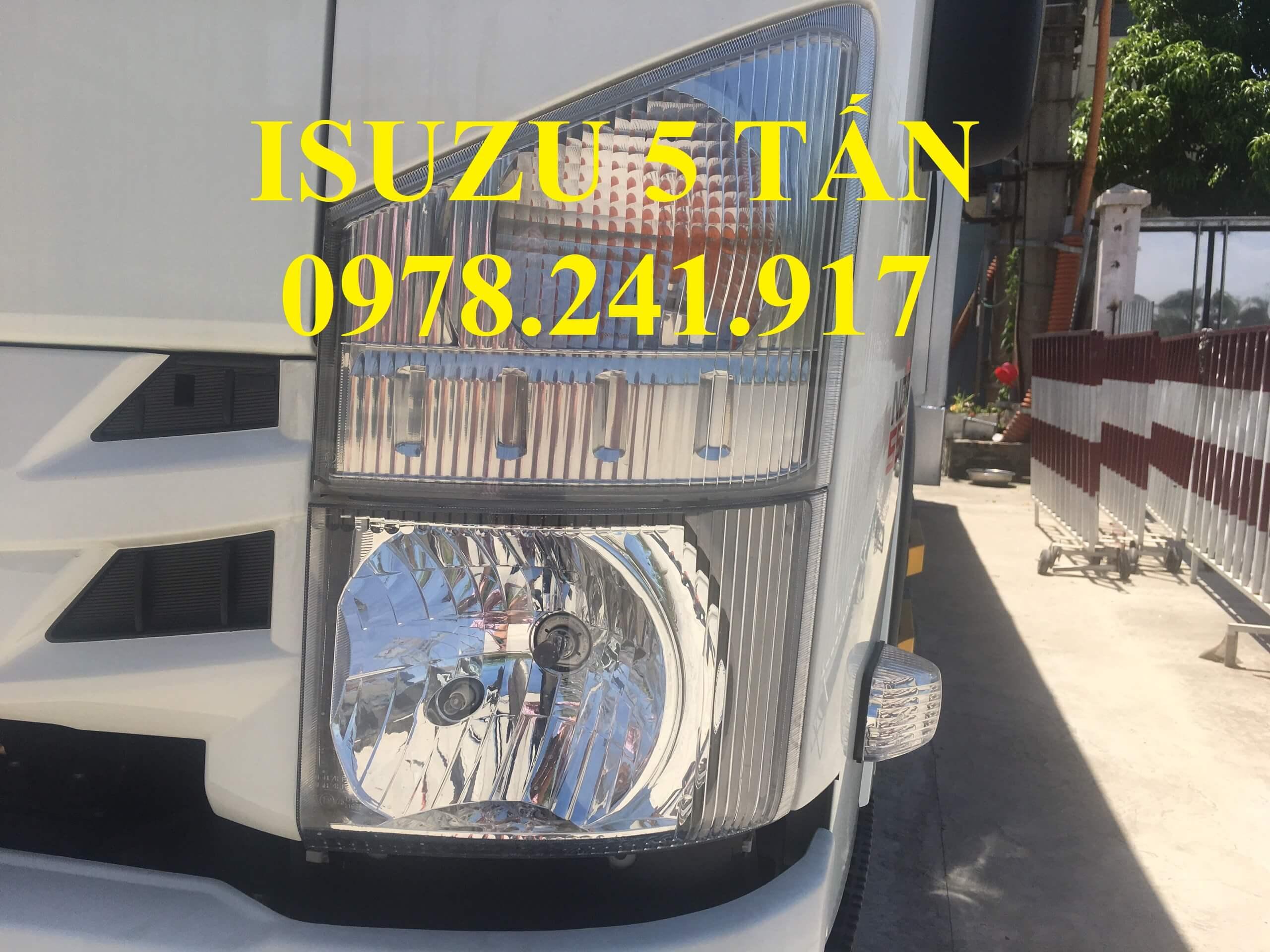 xe tải isuzu nqr75m 5 tấn cụm đèn pha