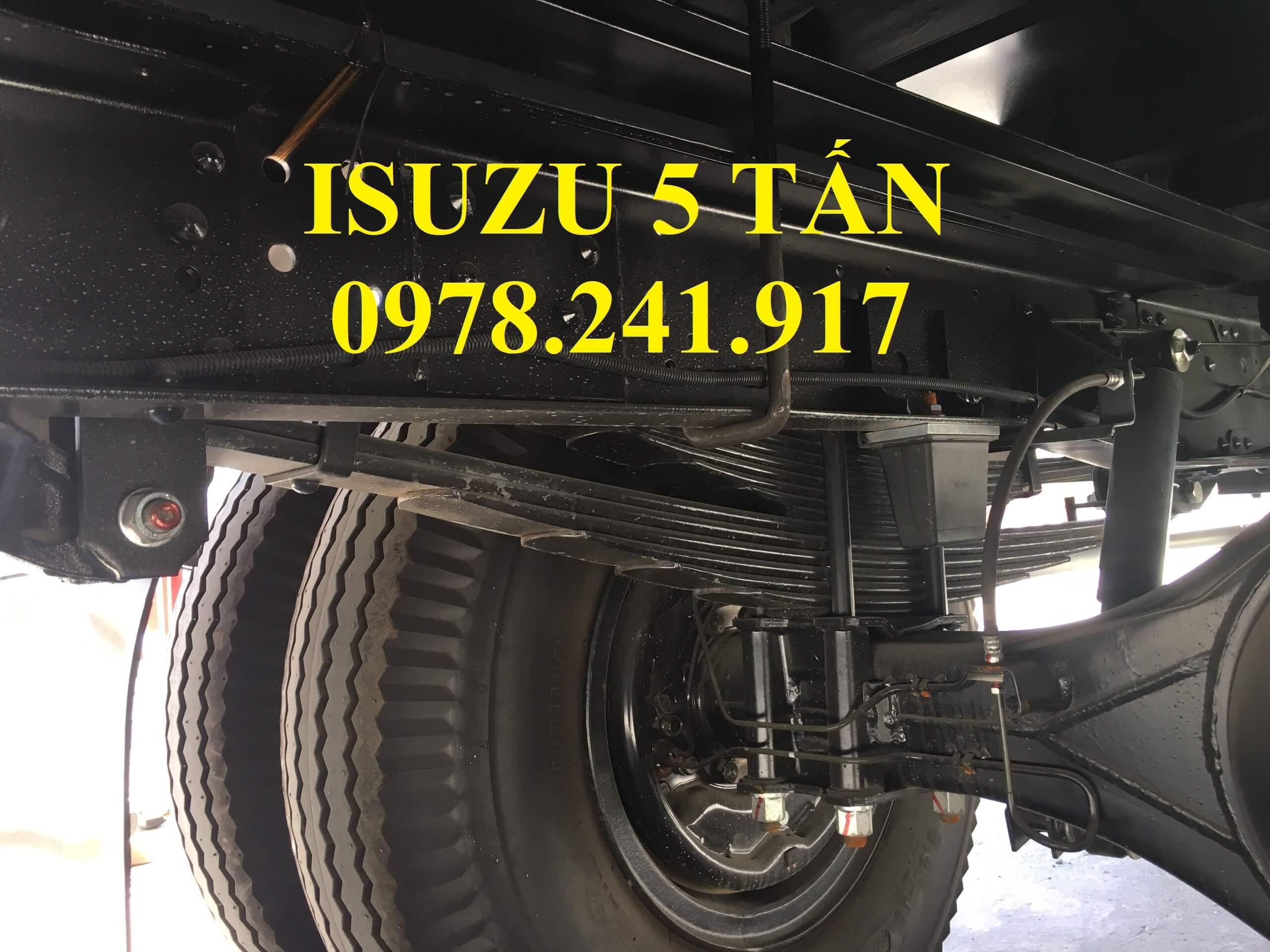 xe tải isuzu NQR75M hệ thống treo cầu sau
