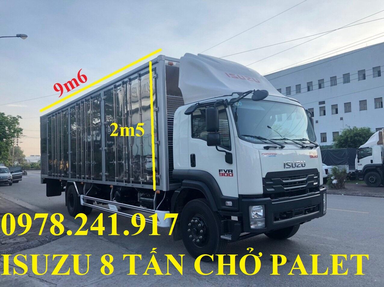 Xe tải Isuzu 8 tấn FVR34UE4 thùng siêu dài 9m6 trả góp chỉ từ 400 triệu