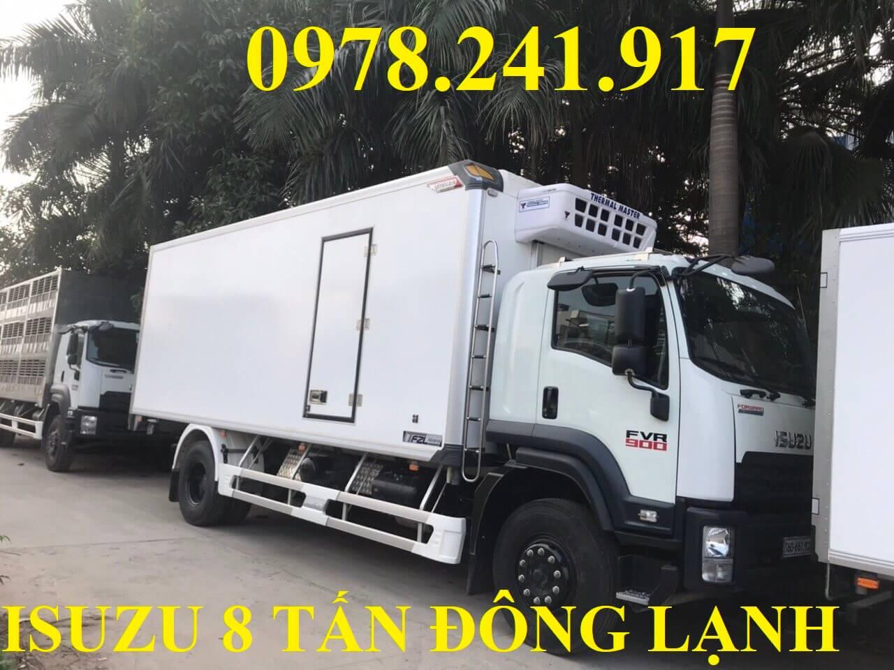 xe tải isuzu 8 tấn thùng đông lạnh