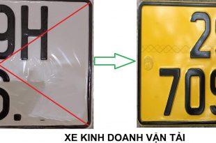 biển số xe kinh doanh vận tải màu vàng